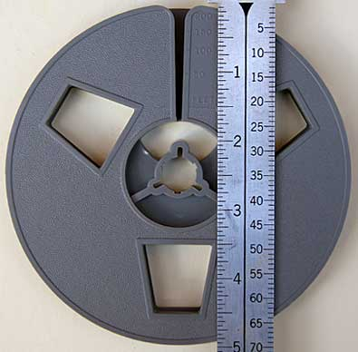 5 Inch Reels Hold approximately 200 feet of film