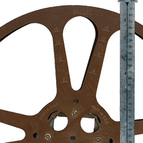 15 Inch Reels Hold approximately 2000 feet of film