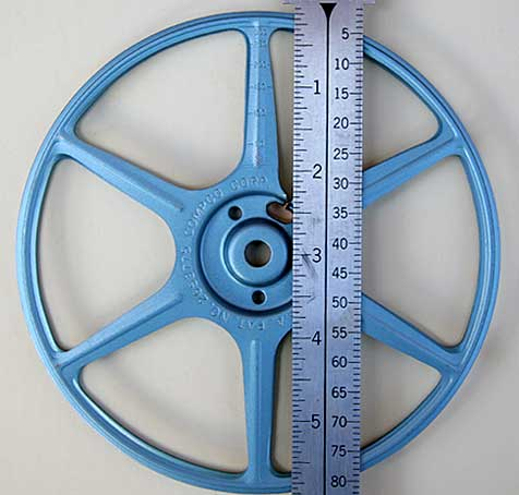 6 Inch Reels Hold approximately 300 feet of film