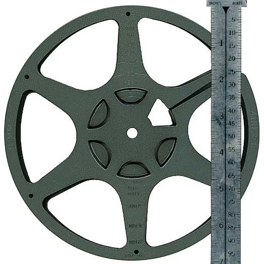 7 Inch Reels Hold approximately 400 feet of film