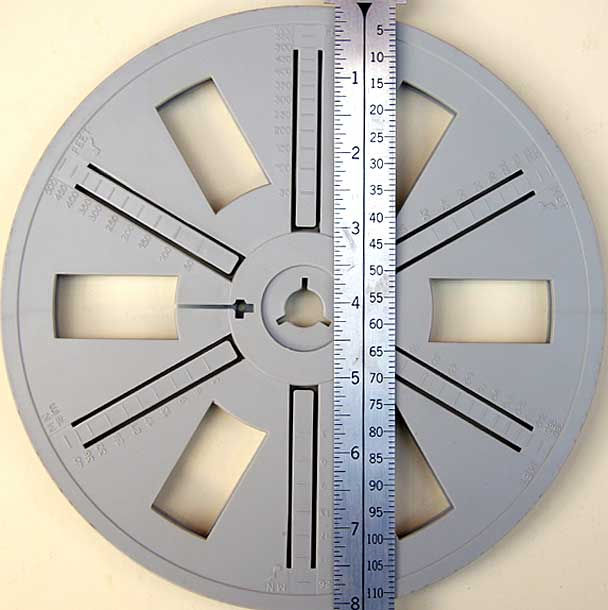 8 Inch Reels Hold approximately 600 feet of film